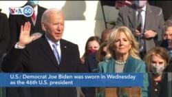 VOA60 Addunyaa - Joe Biden sworn in as the 46th U.S. president