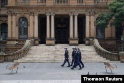 Police look to stop an anti-lockdown protest as a COVID-19 outbreak affects Sydney, July 31, 2021.