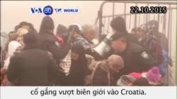 Hàng trăm di dân cố vượt biên giới vào Croatia (VOA60)