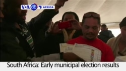 VOA60 Africa - South Africa's ANC Battered at Polls