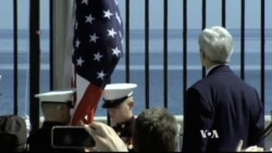 Kerry Watches US Flag Rise Again Over Havana Embassy