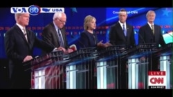 Bà Clinton, ông Sanders nổi bật tại đêm tranh luận của đảng Dân chủ (VOA60)