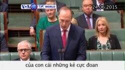 Úc có thể tước quốc tịch con cái của những kẻ cực đoan (VOA60)