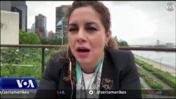 Intervistë me ministren e Jashtme të Shqipërisë Olta Xhaçka pas votimit në OKB