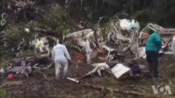 Les sauveteurs sont sur place après un crash aérien en Colombie (vidéo)