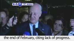 VOA60 World PM - UN Puts Syria Peace Talks On Hold Until End of February