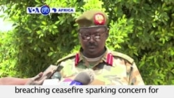 VOA60 Africa - South Sudan: Army accuses rebels of breaching ceasefire - August 31, 2015