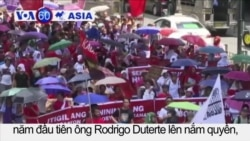 Tuần hành đánh dấu một năm ngày ông Duterte nắm quyền
