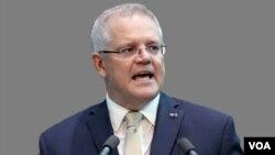 资料照片:澳大利亚总理莫里森。