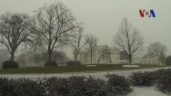 Toà Bạch Ốc trong trận bão tuyết kỷ lục