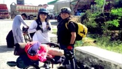 Two Female Pakistani Cyclists Try to Present Country's Progressive Face