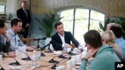 Владимир Зеленский на встрече с журналистами, Киев, 10 октября 2019