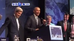 VOA60 America - President Obama spoke at Arctic environmental summit in Anchorage - September 1, 2015