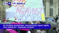 VOA60 World - Women across the globe celebrate the women's rights movement