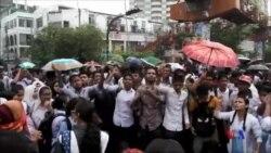 孟加拉示威學生與警方發生衝突