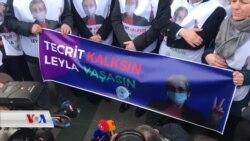 Parlamanterên HDP'ê bo Piştgirîya Leyla Guven li Stenbolê Meşîn