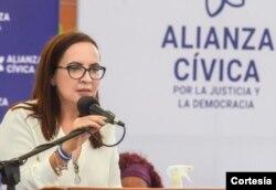Asunción Moreno, jurista Venezuela, conversó con la Voz de América. [Foto Cortesía]