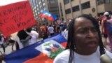 Ayisyen Pran Lari Washington Pou Pwoteste Kont Politik Imigrasyon Etazuni