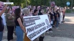 Gaziantep'te Pınar Gültekin Protestosu