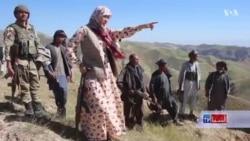 زنی در خط مقدم جنگ با طالبان