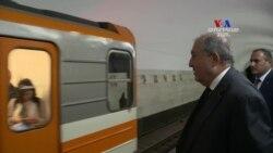 Երևանյան մետրոյում հանրապետության նախագահի հետ․ ցուցահանդես, համերգ, զրույցներ