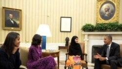 奧巴馬在白宮會晤維權少女馬拉拉
