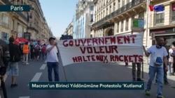 Macron'un Birinci Yıldönümüne Protestolu 'Kutlama'