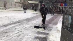 New York'ta Yoğun Kar Yağışı