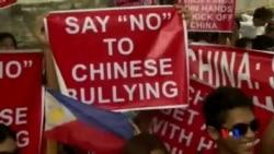 2014-05-16 美國之音視頻新聞: 馬尼拉發生菲越聯合反華抗議