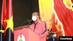 Presidente angolano, João Lourenço, discursa no 64º aniversário do MPLA, em Luanda, 12 Dezembro 2020