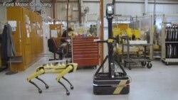 机器狗驻扎福特汽车厂房执行测绘任务