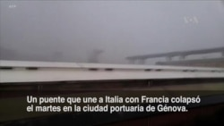 Al menos 20 muertos al caer puente en Italia