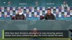 Ronaldo: UEFA Ta Gargadi 'Yan Wasa Da Su Daina Gusar Da Kwalaben Abubuwan Sha
