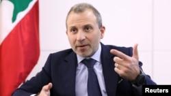 Gebran Bassil, pemimpin kelompok politik Kristen terbesar Lebanon dan menantu Presiden Michel Aoun.