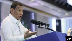Tổng thống Philippine Rodrigo Duterte.