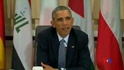 """2014-10-15 美國之音視頻新聞: 奧巴馬對科巴尼鎮的命運""""深感憂慮"""""""