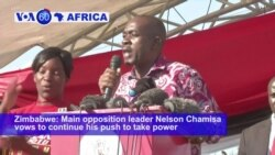 VOA60 Africa - Zimbabwe Opposition Party 'Installs' Chamisa as President