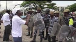 Manifestations des syndicalistes gabonais à Libreville pour le 1er mai (vidéo)