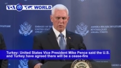 VOA60 World - Pence Announces Cease-fire in Turkish Assault in Syria