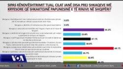 Anketa: Papunësia dhe korrupsioni largojnë të rinjtë nga Shqipëria