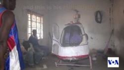 Repairman Builds Helicopter From Scrap Metal in Malawi