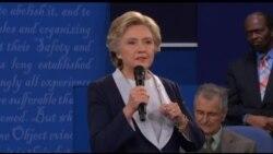 克林顿川普二度舌战 激辩瞬间回放