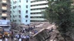 印度孟買一樓房倒塌3人死