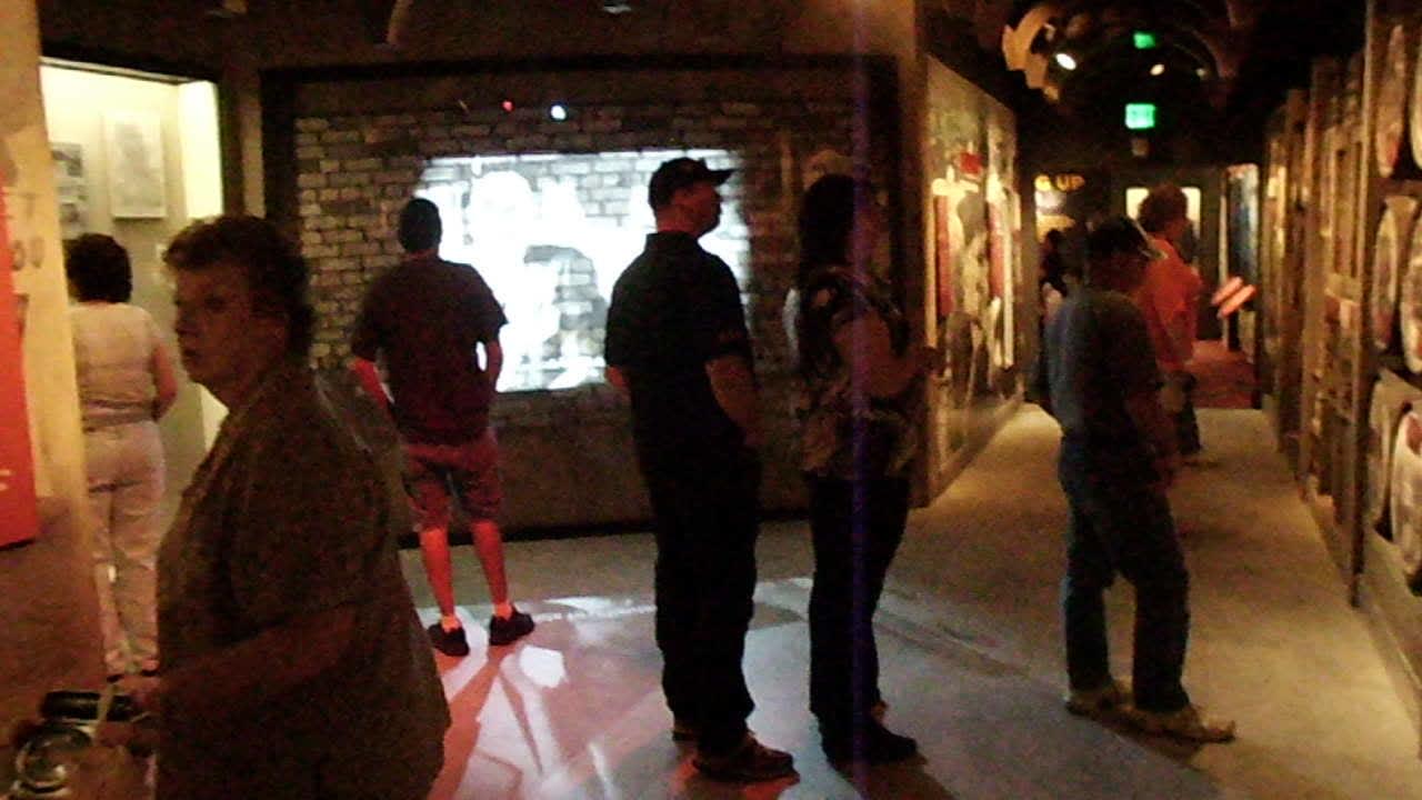 Brick wall at Mob Museum