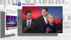 VOA60 Elections - Secretary of State Hillary Clinton and Vermont Senator Bernie Sanders traded barbs