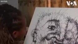 Họa sĩ với nét vẽ nguệch ngoạc