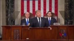 川普国会讲话在华盛顿引起辩论