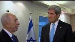 2013-06-29 美國之音視頻新聞: 克里與阿巴斯會談後返回以色列