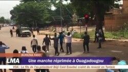 Une marche anti-pouvoir repoussée par la police à Ouagadougou