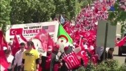 Washington'da Binler Türk Yürüyüşünde Buluştu